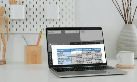 Excel | Poimenovanje celic in obsegov